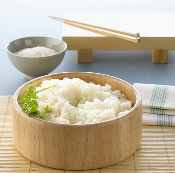 米饭煮熟方法矢量图